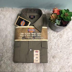 Dickies | Men's Long Sleeve Work Shirt | Khaki